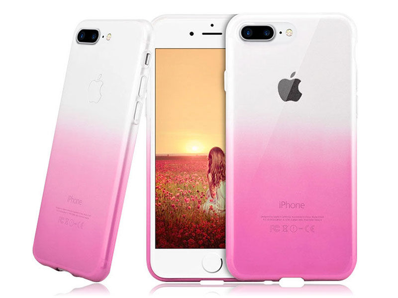 Etui Alogy Slim Ombre Apple iPhone 7/8 Plus Różowe - Różowy