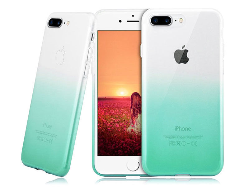 Etui Alogy Slim Ombre Apple iPhone 7/8 Plus Zielone - Zielony