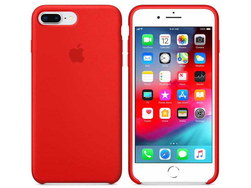 Etui Apple silicone case iPhone 7 Plus / 8 Plus MQH12ZM/A Red - Czerwony