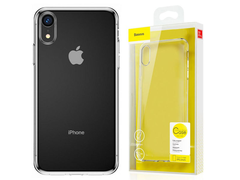 Etui Baseus Simplicity case do iPhone XR + Szkło Alogy