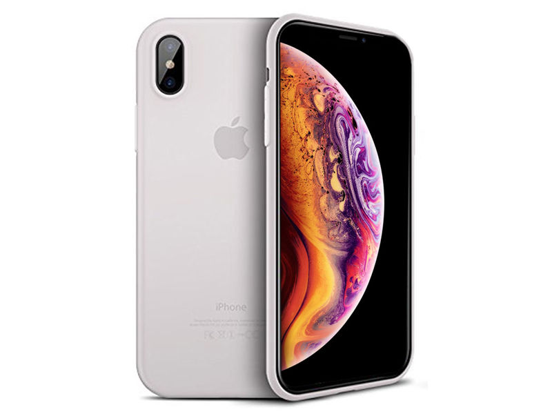 Etui Cafele ultra slim do Apple iPhone XS Max białe - Biały