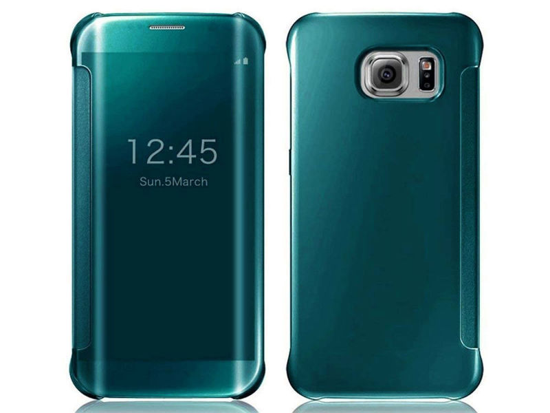 Etui Clear View Cover do Samsung Galaxy S7 Edge Zielone - Zielony
