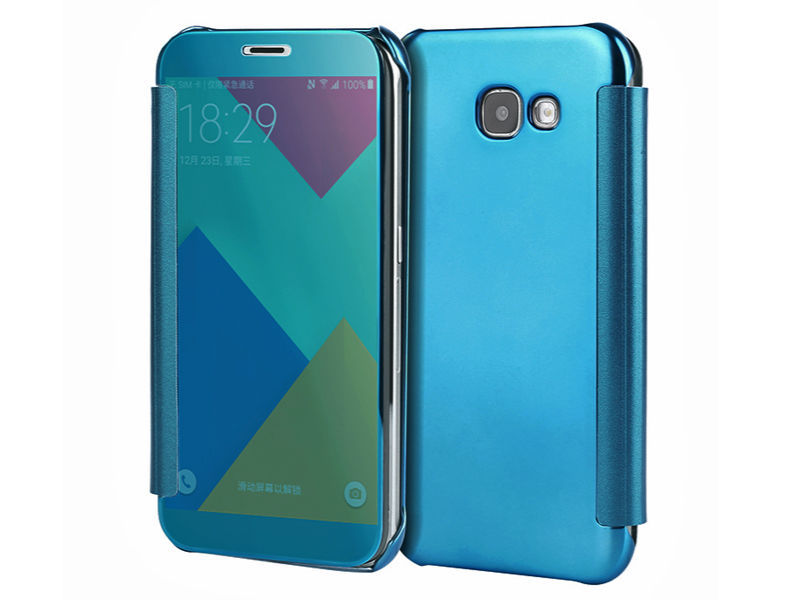 ETUI CLEAR VIEW COVER SAMSUNG GALAXY A5 2016 - Niebieski