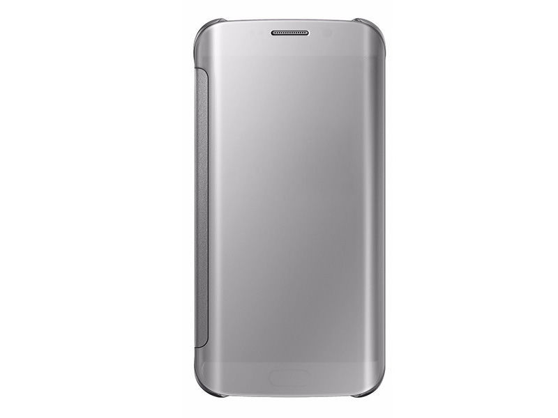 ETUI CLEAR VIEW COVER SAMSUNG GALAXY S7 EDGE - Srebrny
