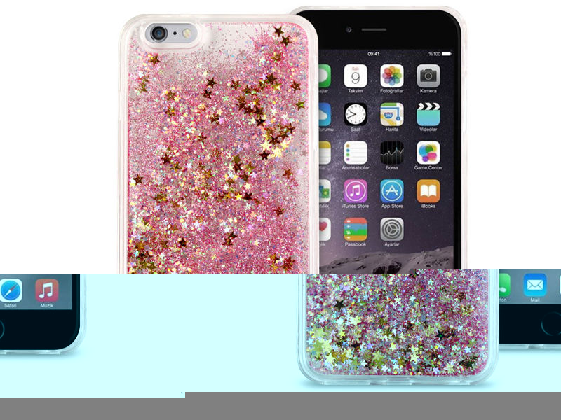 Etui liquid glitter Apple iPhone 6/6S Plus brokat różowy