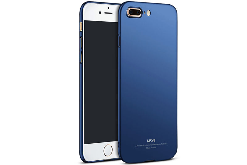 Etui MSVII Thin Case do Apple iPhone 8 Plus Granatowe - Granatowy