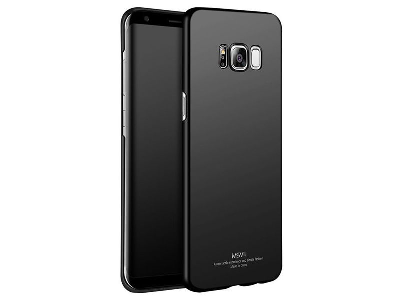 Etui MSVII Thin Case do Samsung Galaxy S8+ Plus Czarne - Czarny