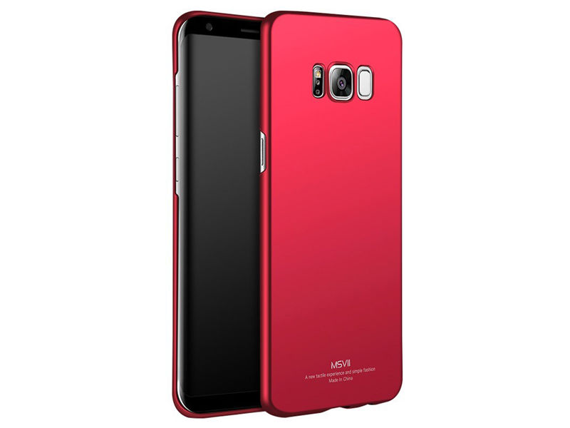 Etui MSVII Thin Case do Samsung Galaxy S8+ Plus Czerwone - Czerwony