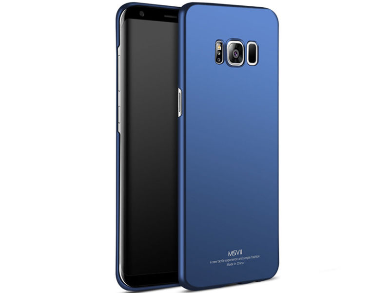 Etui MSVII Thin Case do Samsung Galaxy S8+ Plus Granatowe - Granatowy