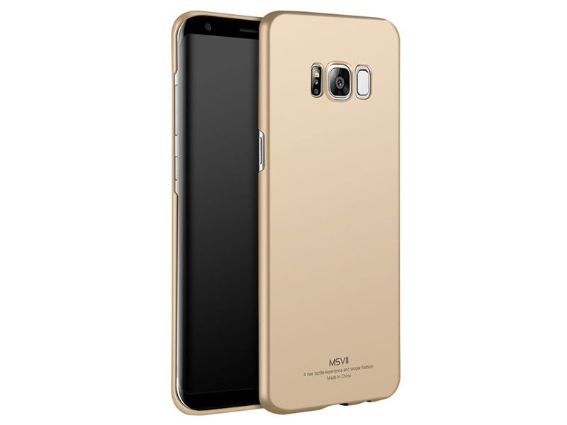 Etui MSVII Thin Case do Samsung Galaxy S8+ Plus Złote - Złoty