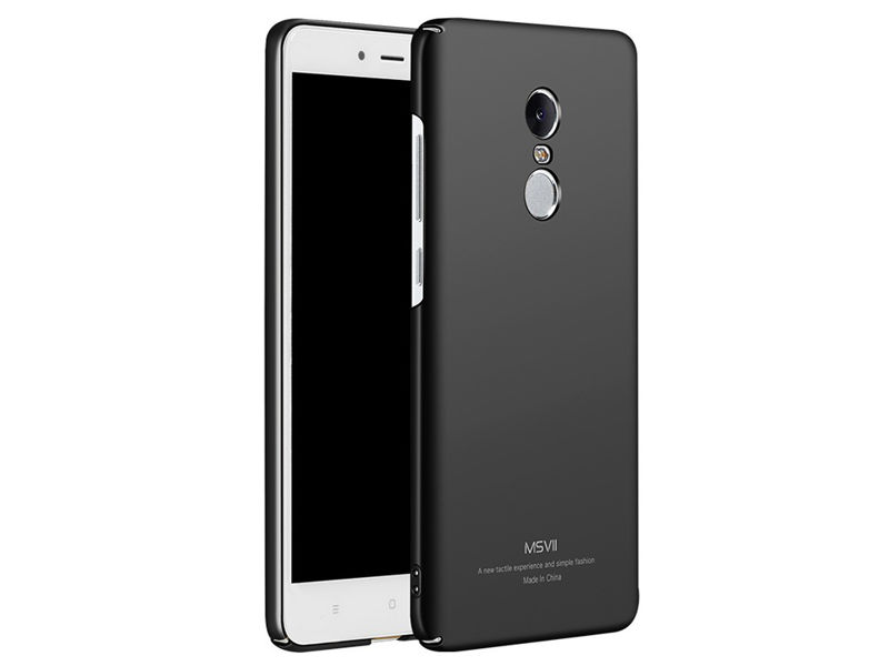 Etui MSVII Thin Case do Xiaomi Redmi Note 4X/4 global czarne +szkło - Czarny