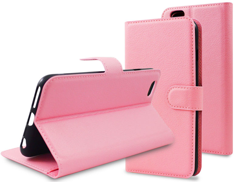 Etui portfel guma do Apple iPhone 6 Plus /6S Plus Różowe - Różowy