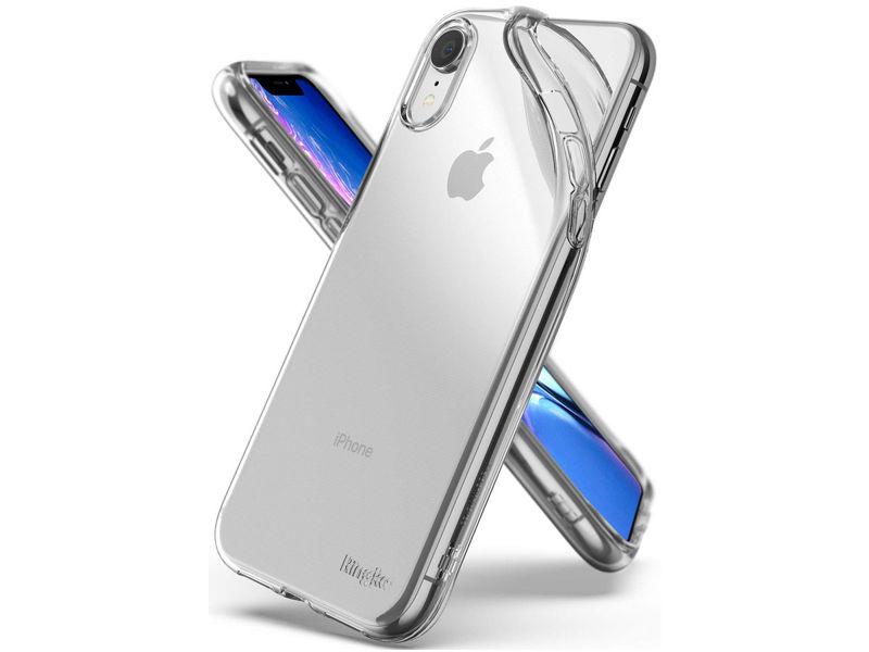 Etui Ringke Air do Apple iPhone XR Clear + 3x Szkło Ringke ID - Przezroczysty