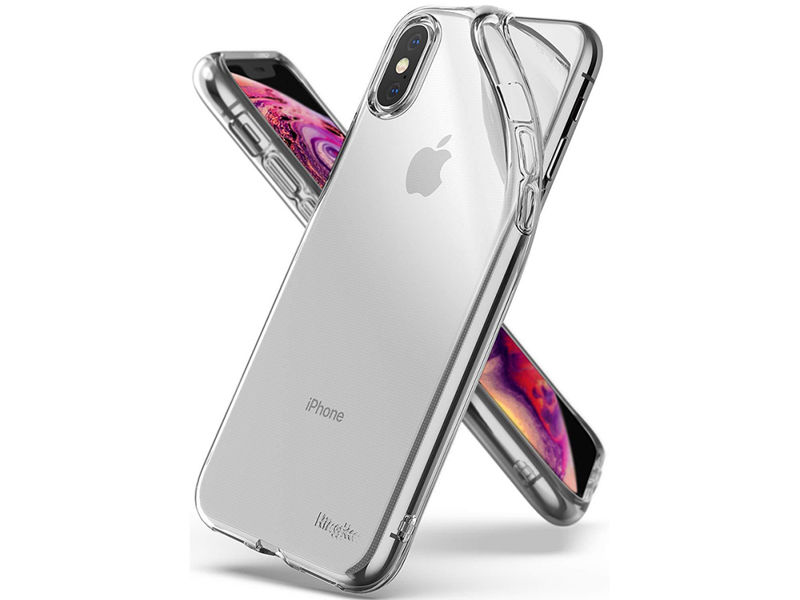 Etui Ringke Air do Apple iPhone XS Max clear + Szkło Invisible - Przezroczysty