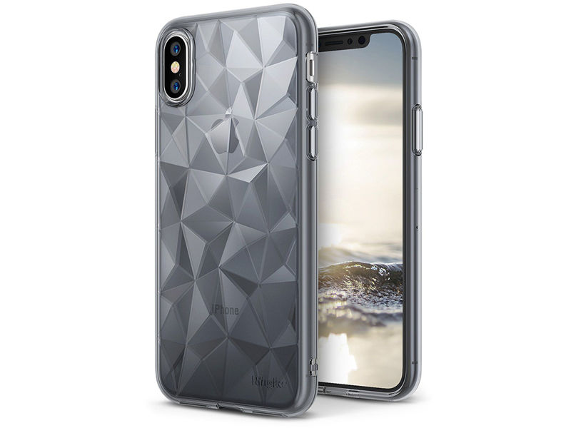 Etui Ringke Air Prism Apple iPhone X/Xs Smoke Black + 3xSzkło Ringke ID - Czarny