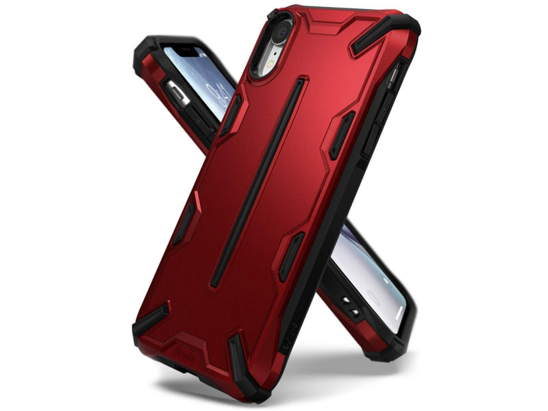 Etui Ringke Dual X Apple iPhone Xr Iron Red - Czerwony