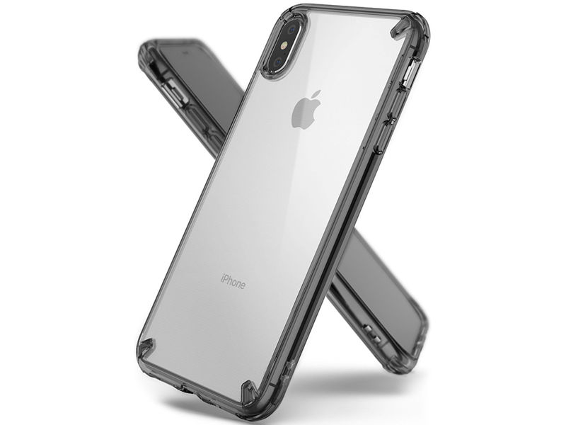 Etui Ringke Fusion Apple iPhone XS Max smoke black - Czarny