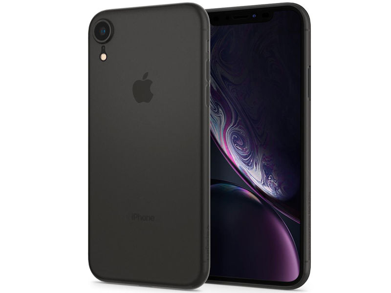 Etui Spigen Air Skin Apple iPhone Xr Black - Czarny
