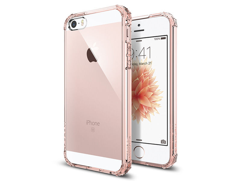 Etui Spigen iPhone 5/5S/SE crystal shell rose crystal - Różowy