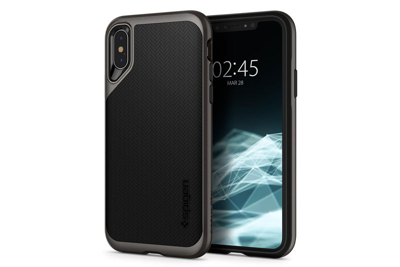 Etui Spigen Neo Hybrid Apple iPhone Xs Max Gunmetal - Szary