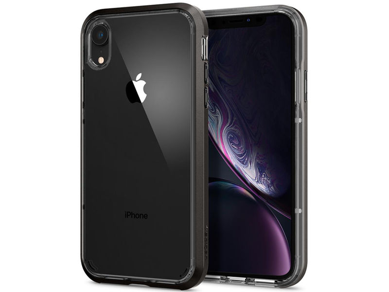 Etui Spigen Neo Hybrid Crystal Apple iPhone Xr Gunmetal - Czarny