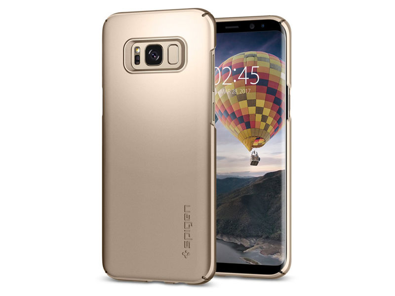 Etui Spigen SGP Thin Fit Samsung Galaxy S8+ Plus - Maple Gold - Złoty