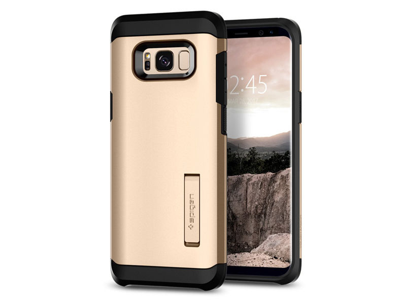 Etui Spigen Tough Armor Samsung Galaxy S8+ Plus - Maple Gold - Złoty