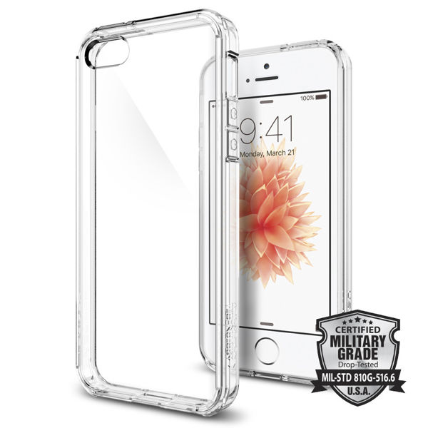 Etui Spigen Ultra Hybrid do iPhone 5/5s Crystal Clear - Przezroczysty