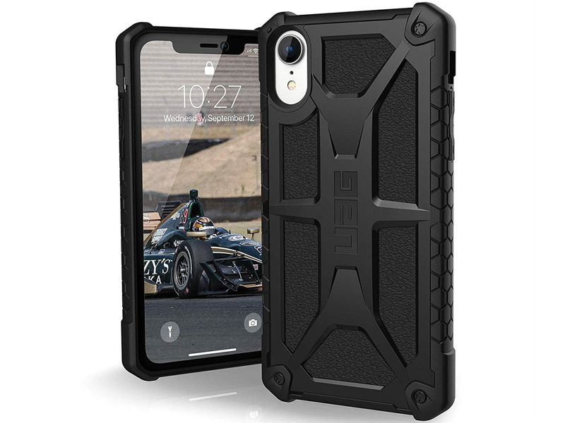 Etui UAG Urban Armor Gear Monarch Apple iPhone Xr Black - Skóra Licowa