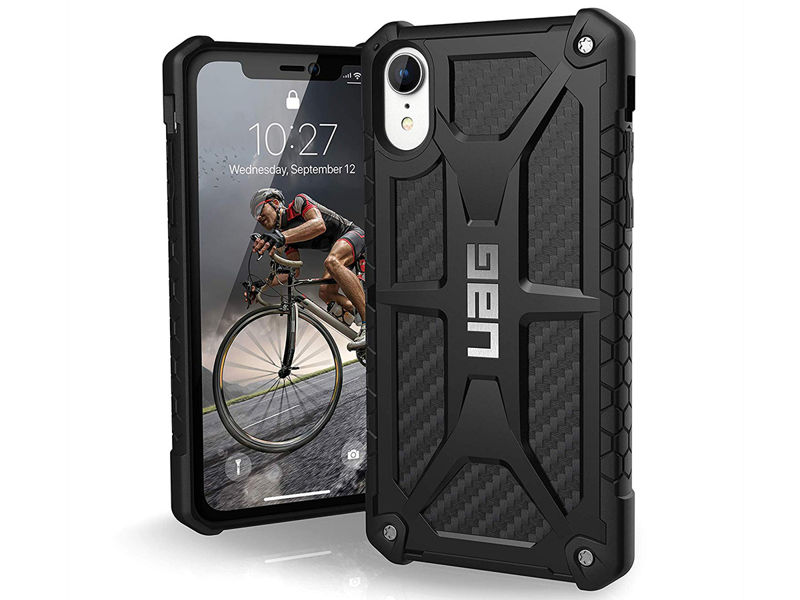 Etui UAG Urban Armor Gear Monarch Apple iPhone Xr Carbon Fiber - Włókna karbonu